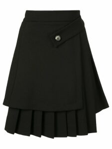 Off-White asymmetric pleated skirt - Black