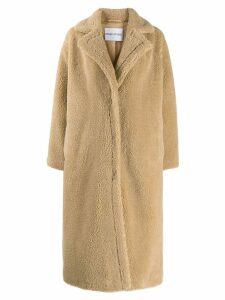 STAND STUDIO 'Maria' Teddy faux fur coat - Neutrals