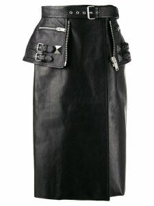 Alexander McQueen biker-style midi skirt - Black