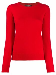 N.Peal round neck sweater - Red
