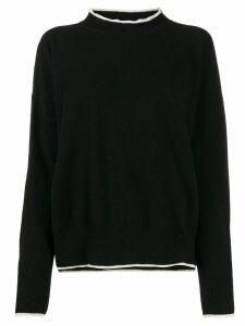 Marni contrast-trim sweater - Black