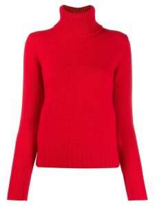N.Peal chunky roll neck jumper - Red