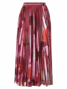 Emilio Pucci abstract print pleated skirt - Red