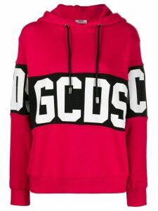 Gcds logo band hoodie - Red