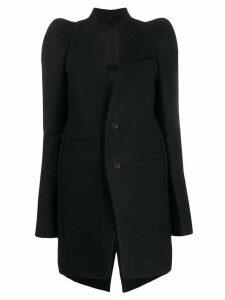Rick Owens structured longline blazer - Black