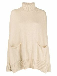 Ma'ry'ya oversized funnel neck sweater - Neutrals