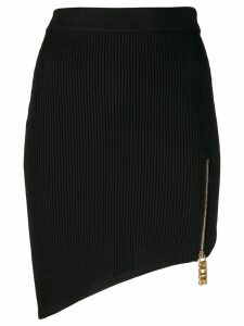 Gcds ribbed asymmetric hem skirt - Black