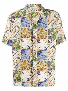 Esteban Cortazar Cartagena tile print shirt - Neutrals