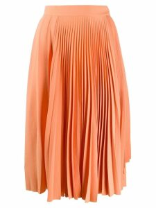 Acne Studios pleated midi skirt - Orange