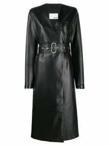 Each X Other vegan leather coat - Black