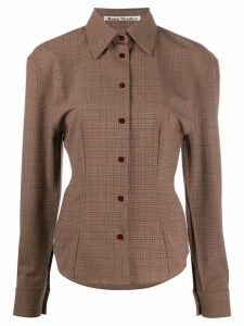 Acne Studios houndstooth structured shirt - Brown