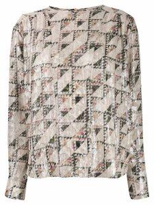 Isabel Marant geometric print blouse - Neutrals