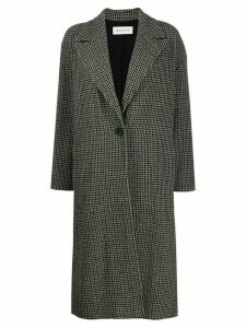 Masscob check single-breasted coat - Grey