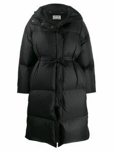 Acne Studios tie waist puffer jacket - Black