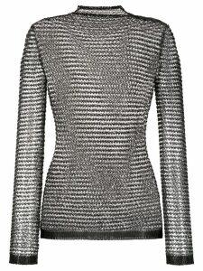 Balmain sequin embroidered top - Black