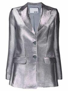 Each X Other metallic shimmering blazer - Silver