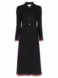 Thom Browne tri-stripe collared knit jumper dress - Blue