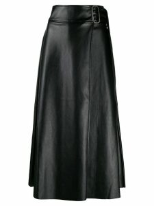 Each X Other Vegan leather wrap skirt - Black