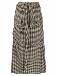 Rokh wrap belt houndstooth skirt - NEUTRALS
