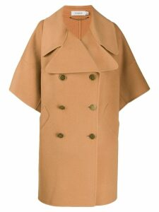 Coach double-breasted cape - Brown