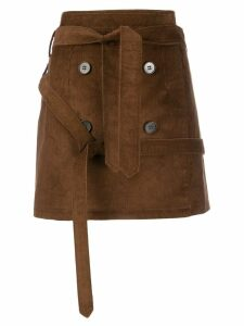 Rokh mini belted skirt - Brown