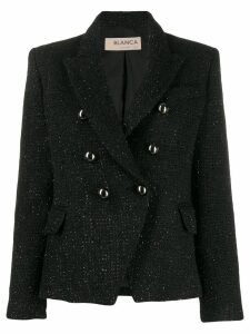 Blanca tweed double-breasted jacket - Black