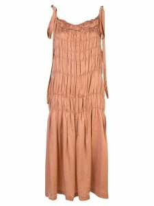 Uma Wang pleated shift dress - Pink