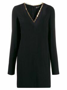 Versace V-neck mini dress - Black