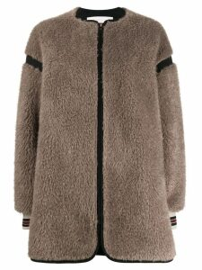 See By Chloé zipped shearling coat - Neutrals
