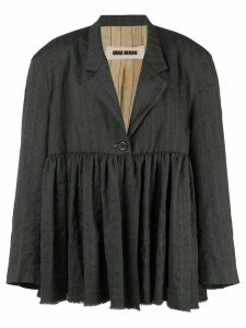 Uma Wang gathered blazer - Black