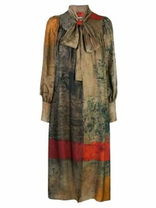 Uma Wang abstract print dress - Multicolour