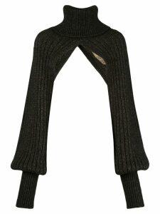 Uma Wang roll neck shrug - Brown