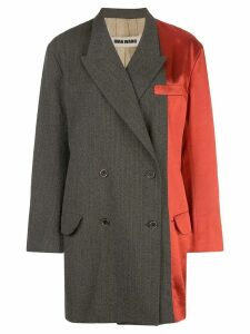 Uma Wang satin panel blazer - Red