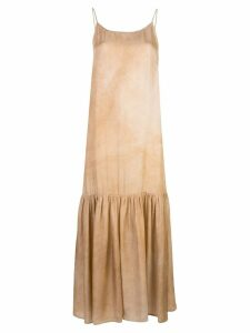 Uma Wang gathered shift dress - Neutrals