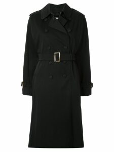 Tu es mon TRÉSOR double-breasted trench coat - Black