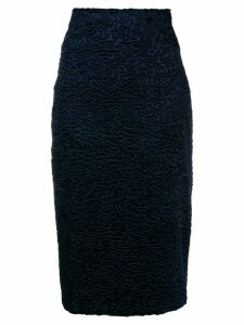 Each X Other Faux-astrakhan skirt - Blue