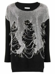 Faith Connexion embellished knit jumper - Black
