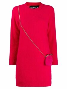 Boutique Moschino long-sleeve sweater dress - Pink