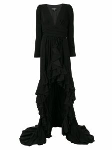 Paule Ka long-sleeve maxi dress - Black