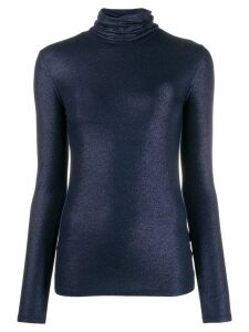 Majestic Filatures lurex knitted roll neck - Blue
