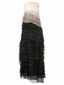 Paule Ka layered colour-block dress - Black