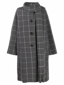 Marc Jacobs oversized checked pattern coat - Grey