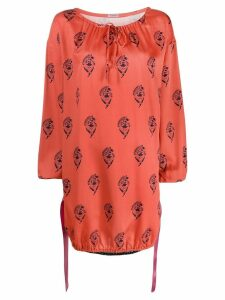 Undercover logo dress - ORANGE
