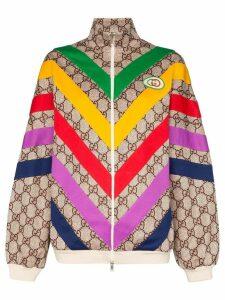 Gucci striped GG Supreme track jacket - Multicolour