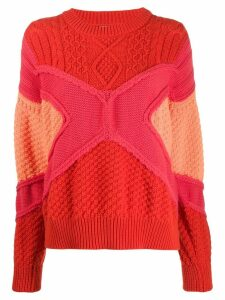 Barrie cable-knit jumper - Orange