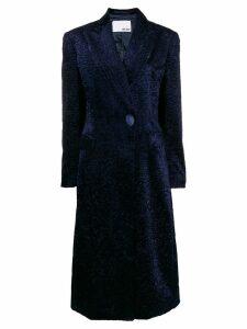 Each X Other Vegan leather blazer coat - Blue