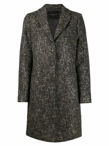 Fabiana Filippi single-breasted fitted coat - Brown