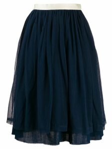 Undercover pleated layered skirt - Blue
