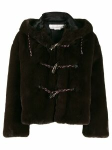 Golden Goose faux fur hooded duffle coat - Brown