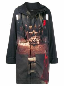 UNDERCOVER printed shell jacket - Black